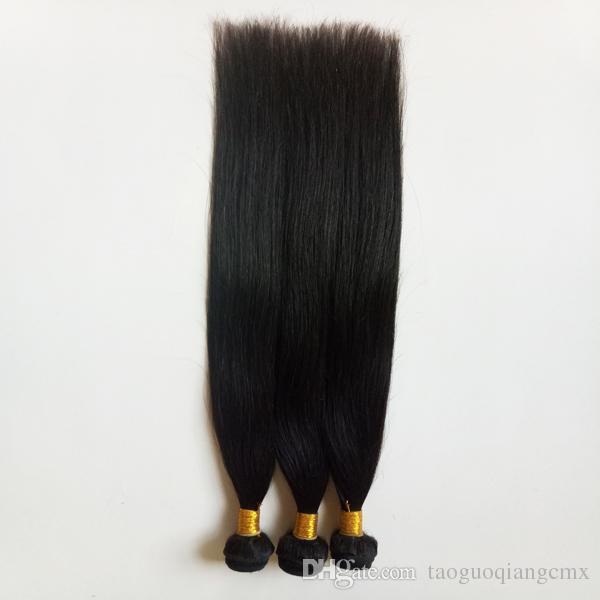 Düz saç örgüleri Brezilyalı Malezya Peru Hint İnsan Saç Uzantıları Paketler remy 8-30inch Toptan Ucuz İpek saç Ham 7A sınıfı