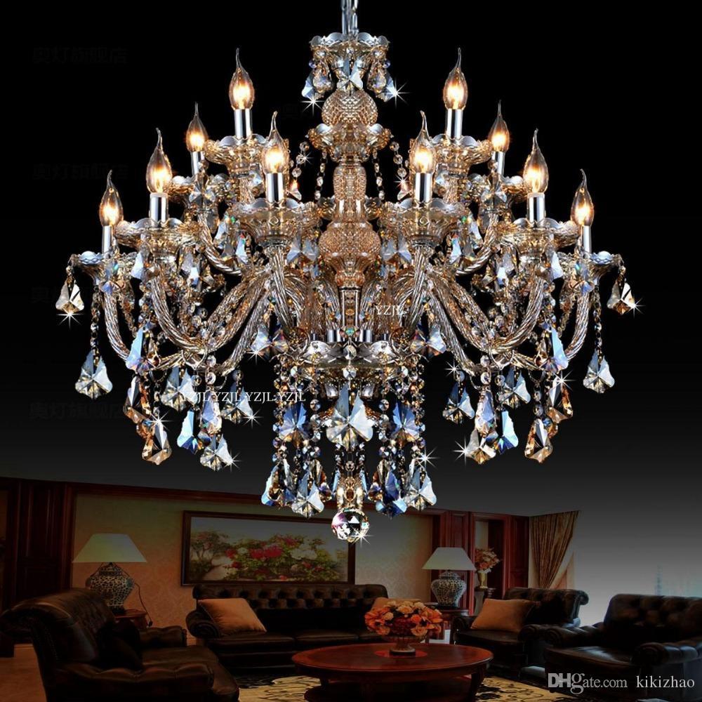 Avize Kristal Konyak Dubleks Işık Villa Büyük Çift Yemek Odası Salon