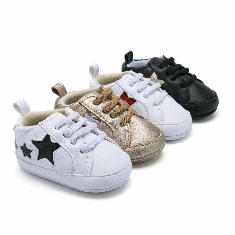 Bebek Yumuşak Alt Sneakers Ayakkabı Moda Erkek Kız İlk Walkers Ayakkabı Bebek Kapalı kaymaz Toddler Rahat Çocuklar Yıldız ayakkabı