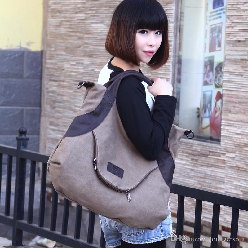 Storage Bags Crossbody Organizer Retro All Match Leisure Canvas Bag Single Shoulder Women Large Capacity High Quality 46qk V