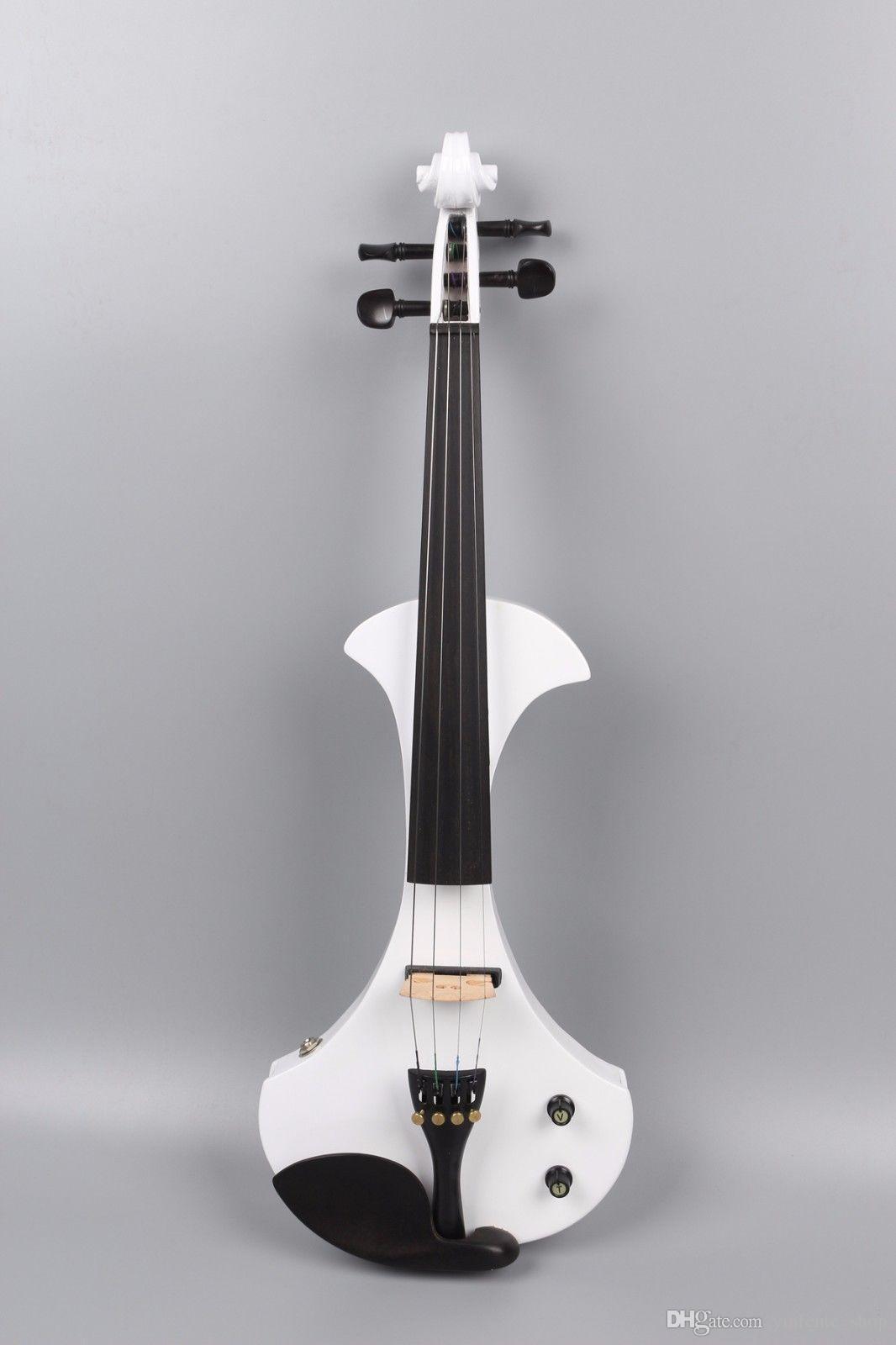 Yinfente 4/4 electric violin 풀 사이즈 빅 잭 단단한 나무 무료 바이올린 케이스 Bow White Sweet Sound