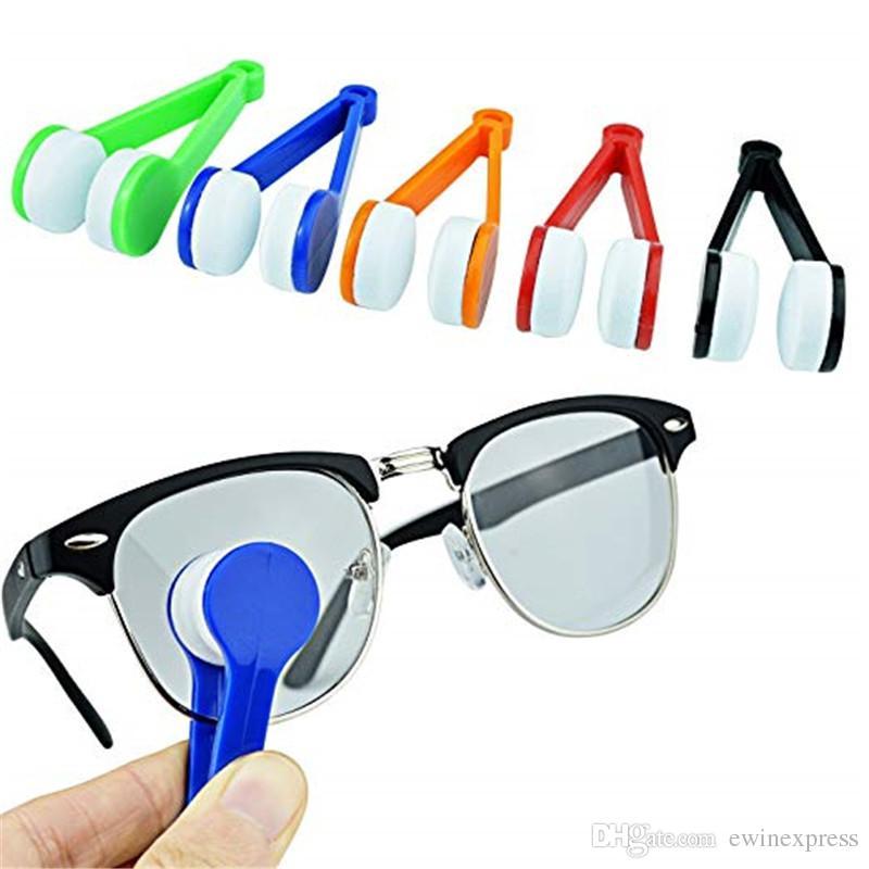 미니 마이크로 파이버 글래스 안경 클리너 클립 브러시 안경 선글라스 클리닝 마이크로 화이버 브러쉬 클리너 홈 오피스 간편한 여행 포