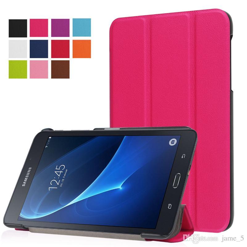 Acheter Pour Samsung Galaxy Tab A 7.0 T280 T281 T285 SM T280 SM T285 Tablette Ultra Slim Support Magnétique PU Housse En Cuir Housse De Protection De ...
