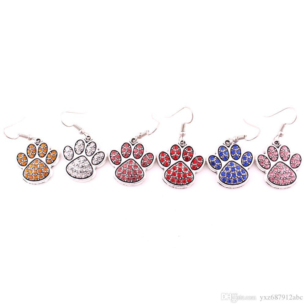مزيج اللون كريستال سبائك باو البصمة سحر صالح لل مجوهرات ديي الكلب أو القط أو الدب أقراط مجوهرات