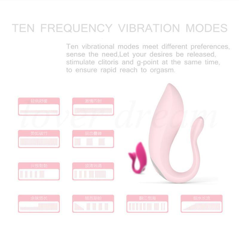 Lade 10 Sex Wireless Fernbedienung Spielzeug Vibe Clitorisg Wir Geschwindigkeitsfleck 4 Erwachsene Vaginalpaare Design Vibrator für Übung Y1893001 CQFU