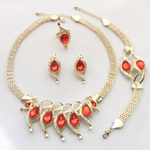 European and American gilded fashion jewelry suit, bride wedding dress accessories retail wholesale
