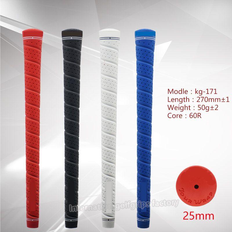 التفاف جولف قبضة ستاندرد 4 ألوان TPE المواد نادي الغولف القبضات الحرة الشحن خصم كمية كبيرة