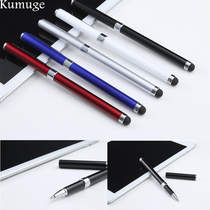 2 in1 Capacitive Touch Screen Stylus w// Ball Point Pen For iPhone iPad iTouch