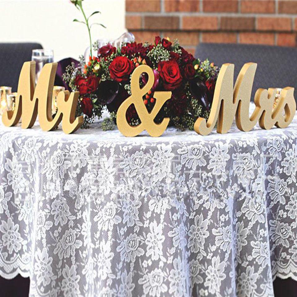 الحسنات صديق للبيئة الجدول محور الزفاف الديكور الذهبي بريق السيد السيدة رسالة خشبية الزفاف الزواج الصورة كشك حزب الدعامة