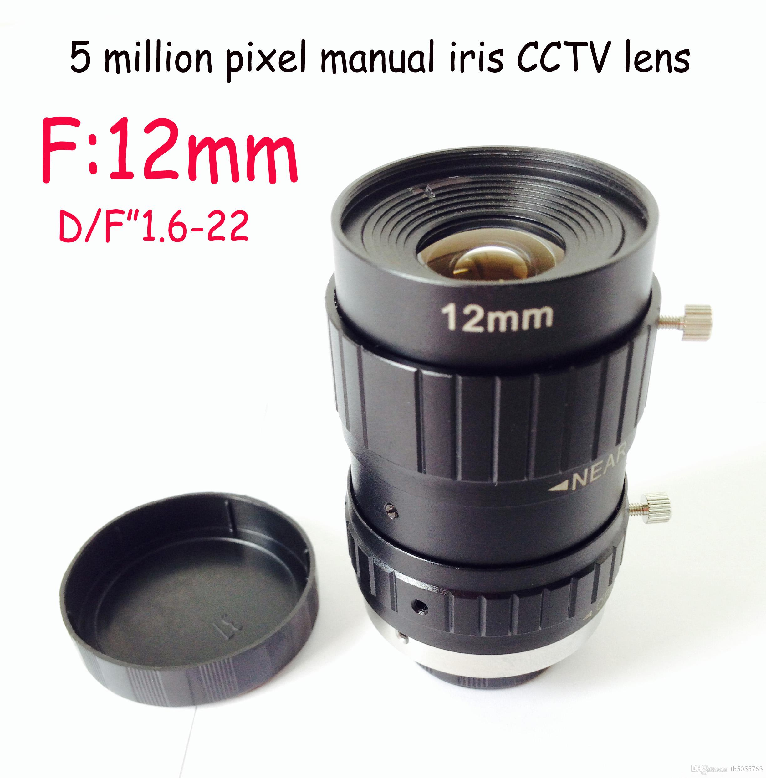 Free shipping factory cheap price 12mm c mount machine vision lens 5 megapixels optical industry lens