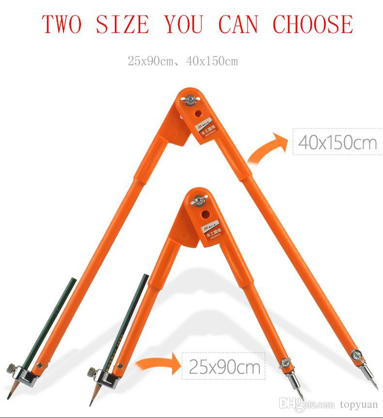 Drawing Measure Gauge Distance Compass Woodworking Craft Design Layout Tool 90/150cm Diameter