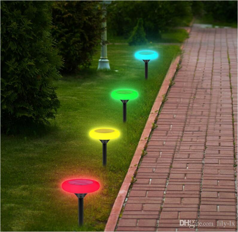 promo code a2715 c9fb1 2019 RGB Color Changing Solar Outdoor Lights Wireless 10 LED Solar Garden  Light Waterproof Landscape Path Lights For Decoration Patio From Lily Lx,  ...