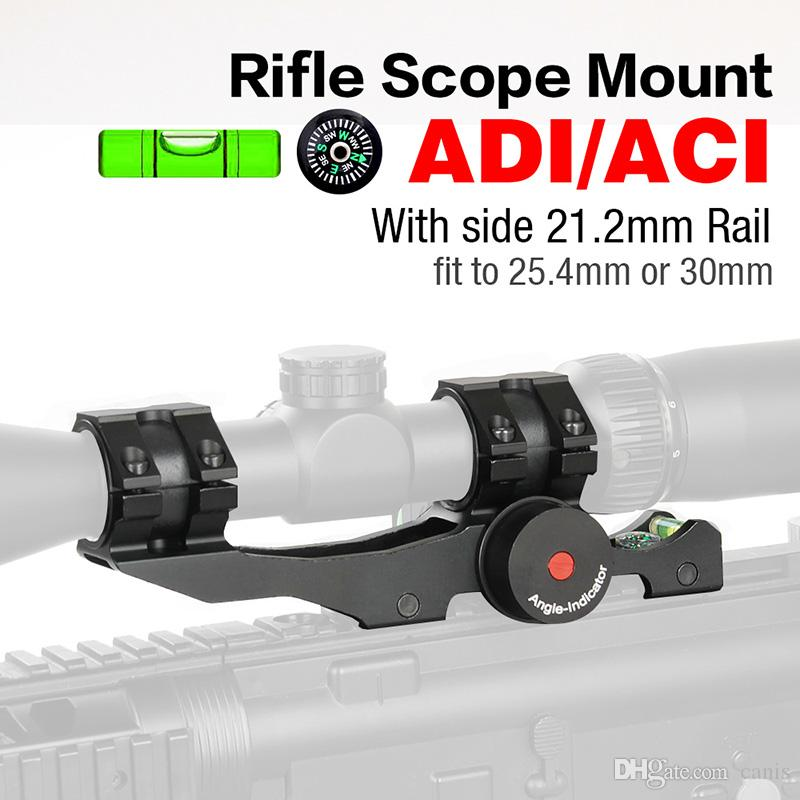 Free Shipping Adjustable ADI Rifle Scope Mounts 30mm/25.4m rings rifleScope with Bubble Level CL24-0207
