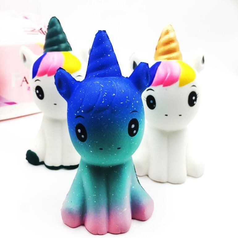 Hot Moda Suave Squishy Unicorn Cura Squeeze Flexível Presente de Brinquedo Dos Miúdos Stress Reliever Decor Frete Grátis