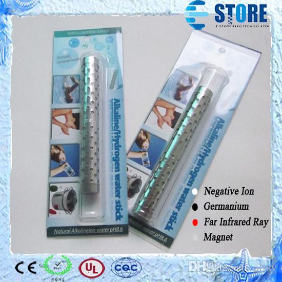 Alkalisk väte vattensticka rostfritt stål energi vattenpinnar naturligt mineral alkalisk vattensticka med förpackning 10pcs