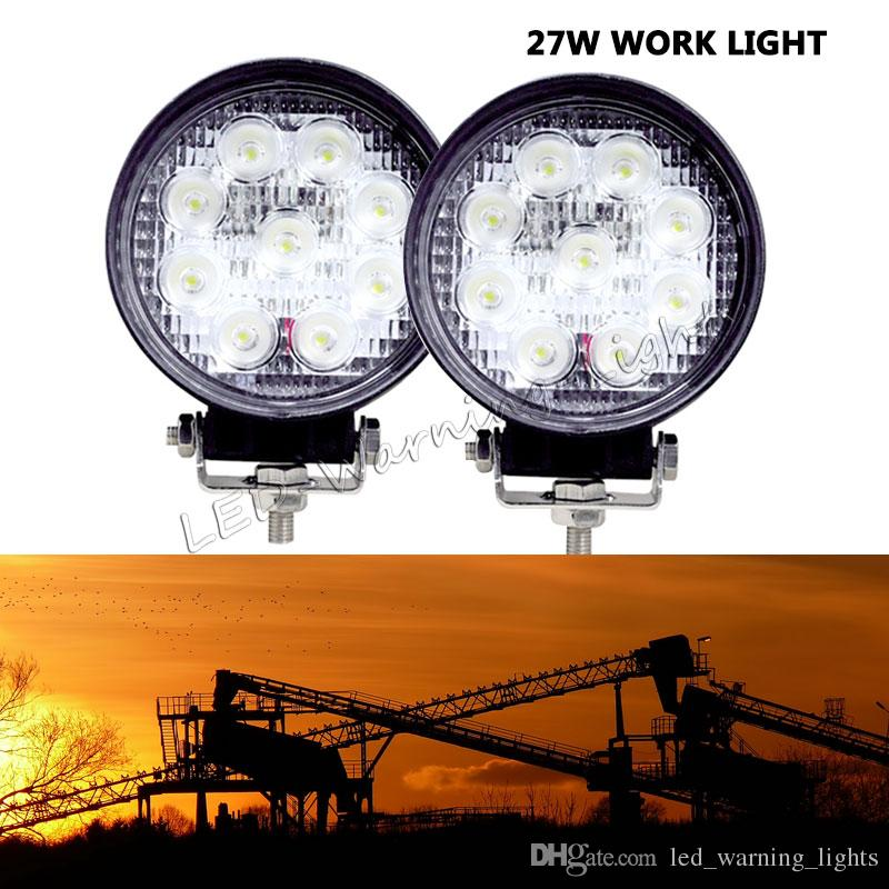 Free shipping 2pcs 4x4 27W LED work light ATV powersports agriculture vehicles truck tractor harvester led fog light driving lamp