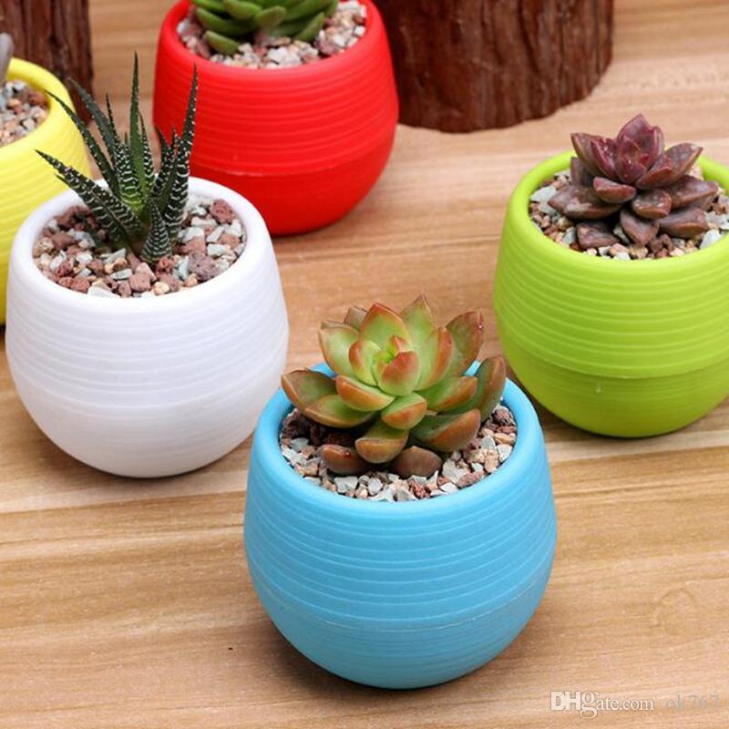 7 * 7cm gros pots de fleurs mini flowerpot jardin pots de pépinière en plastique incassable pour plantes succulentes livraison gratuite