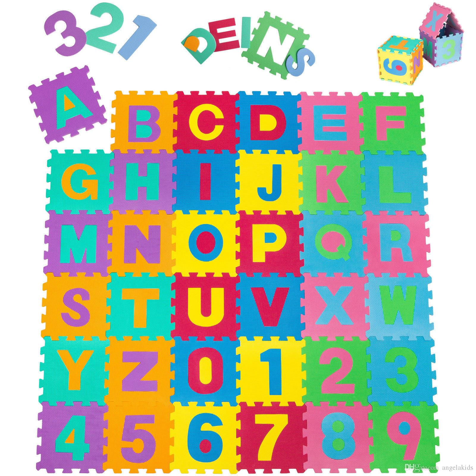 Tapetes das crianças Tapetes Crianças Brincam Esteiras Eva Espuma Grande Piso Alfabeto Crianças Enigma Mat Puzzle Telhas Números