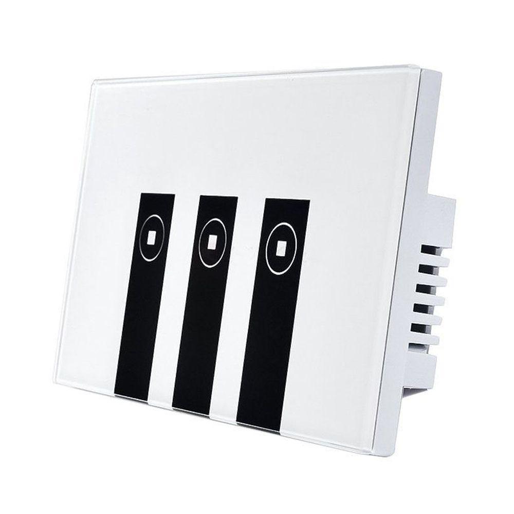 FUNN-WiFi Smart Alexa Light Switch، 3 Gang Touch Wall لوحة Light light Switch