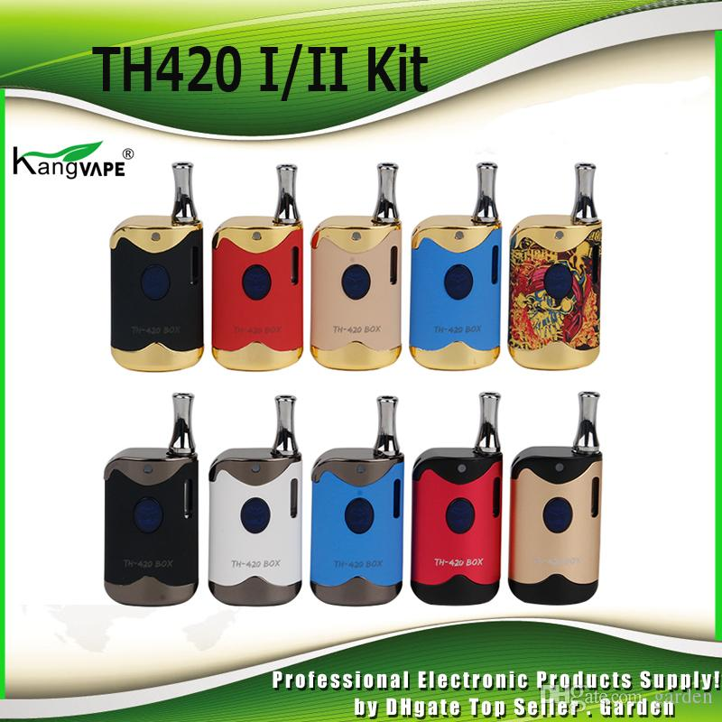Original Kangvape TH-420 II Starter-Kits 650mAh TH420 2 Batterie-Box Mod 0.5ml K1 Keramik-Ölkassetten-Tank-Kit 100%