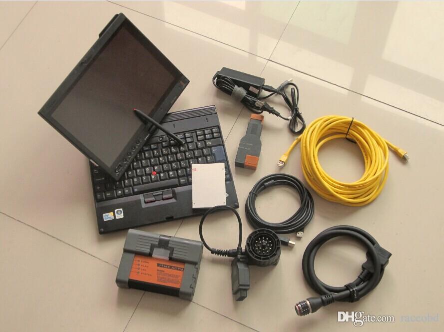 Strumento diagnostico per BMW ICOM A2 SSD Modalità di esperti con laptop X200T Pronto per utilizzare Windows 7 Super Velocità