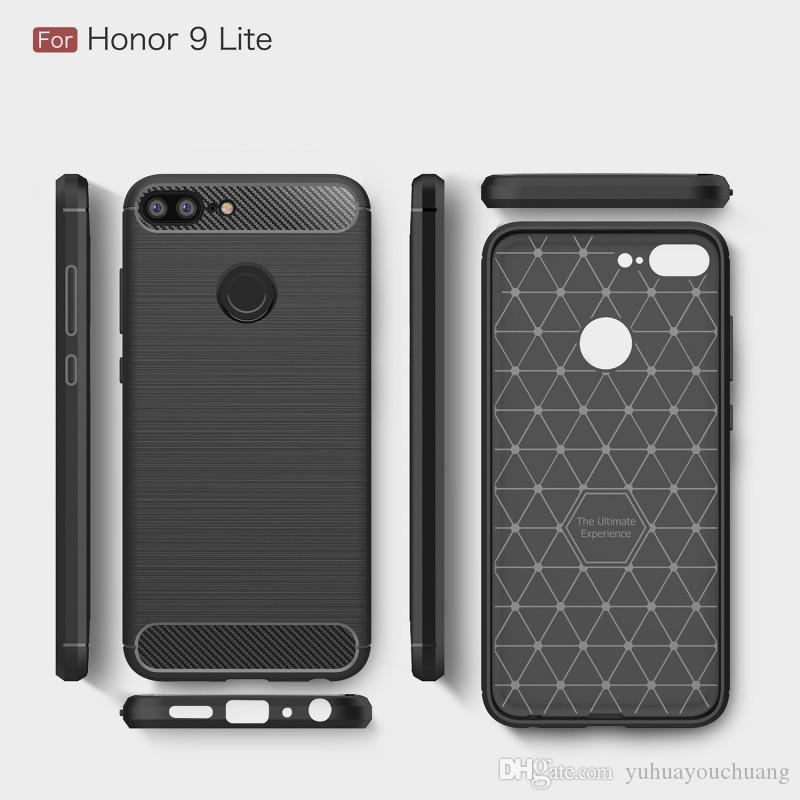quality design 30685 c50c9 For Huawei Honor 9i 9 Lite Case Soft TPU Shockproof Back Cover Carbon Fiber  Cell Phone Cases For Huawei Honor9 9i For IPhone X Cover Customized Cell ...
