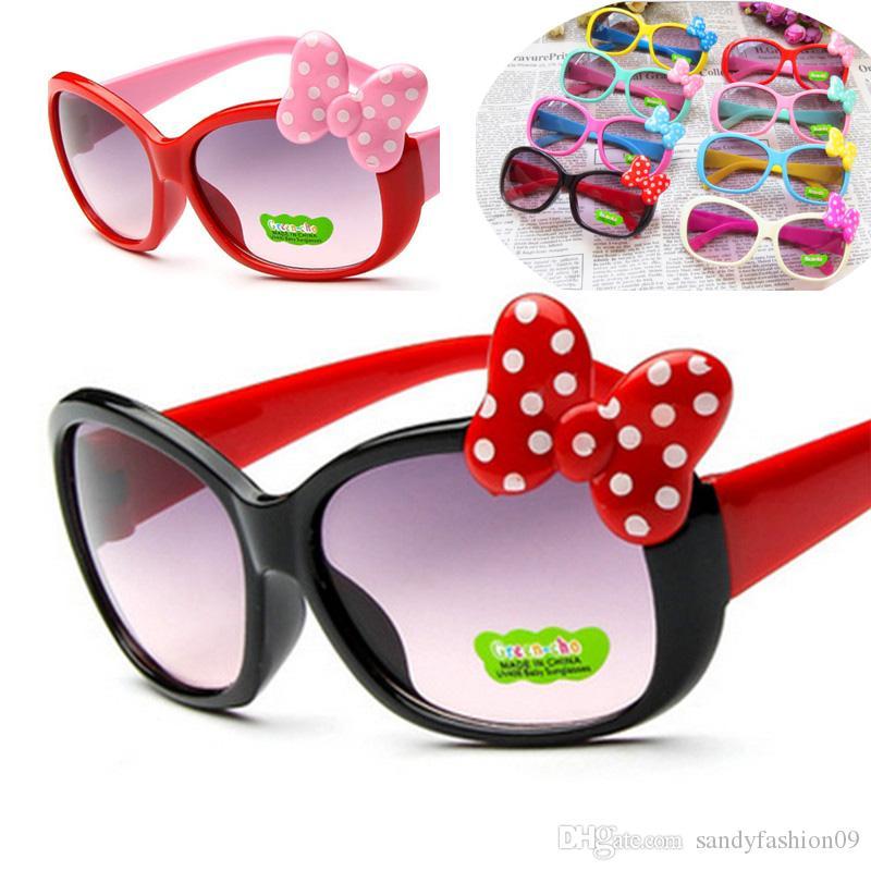 Kinder Prinzessin Nette Sonnenbrille Mode Kinder Sonnenbrille Baby Großhandel Hohe Qualität Jungen Gilrs Brillen HD Objektiv Oculos UV400