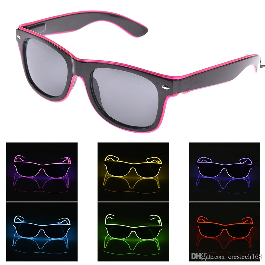 Novel Sound Sensitive Light up Glasses Music activated el wire for music party, dancing, club, Halloween Christmas costumes party LED Toys