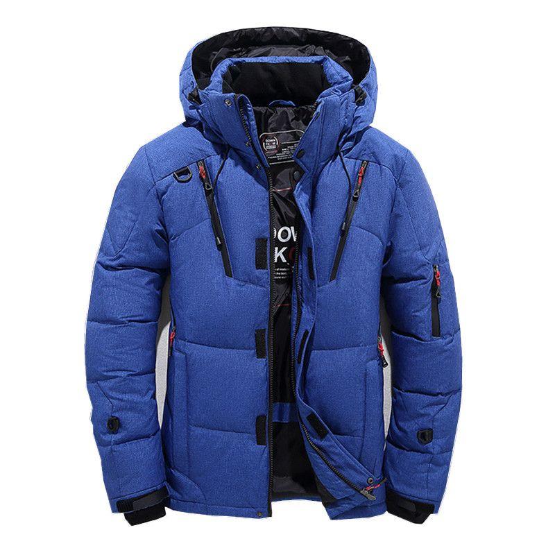 2018 Veste d'hiver Homme Nouveau Mode épais à capuchon col de fourrure Parka homme Manteaux Casual Vestes Homme Vêtements pour hommes rembourrées