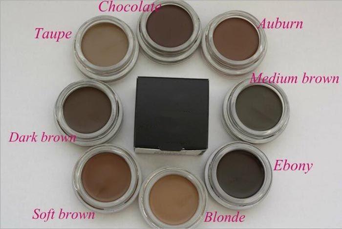 Nueva ceja Pomada Ceja Mejoradores Maquillaje Ceja 8 colores con paquete al por menor envío gratis DHL