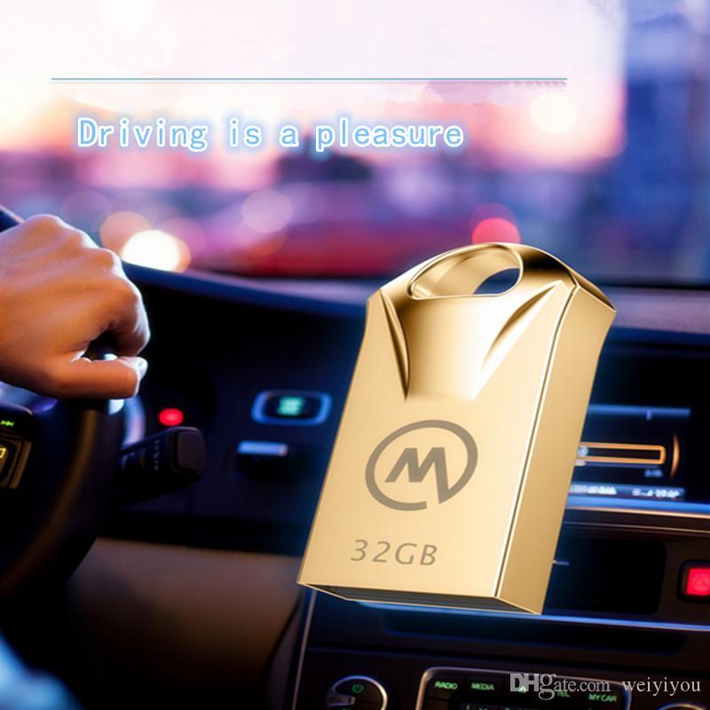 The Vehicle Stick USB Flash Drive 8GB,16GB8GB 16GB 32GB 64GB DJ Song Popular Memory Disk Metal For Monvam Car Mini