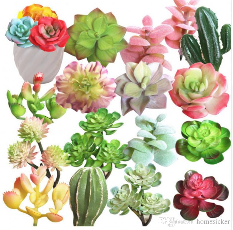 PLANTS SUCCULENTS ARTIFICIAUX MINUSATIFS Lotus Paysage Fleur Mini Vert Fake Plantes Accueil Garden Arrangement Décor