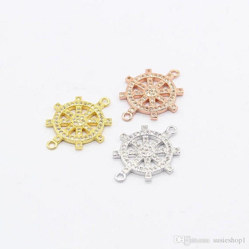 20 pçs / lote conector do leme encantos jóias fazendo descobertas acessórios DIY Handmade Craft, fazendo jóias frete grátis