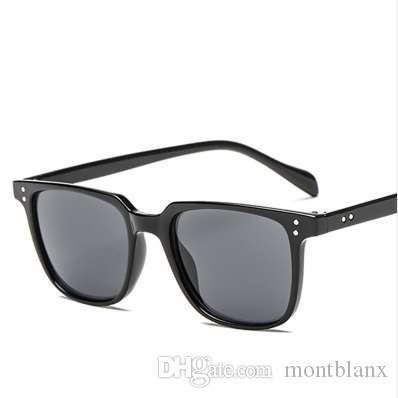 Nuevo diseñador de la marca de fábrica de alta calidad gafas de sol cuadradas de los hombres gafas de sol de conducción retro de la vendimia para los hombres gafas de sol masculinas UV400