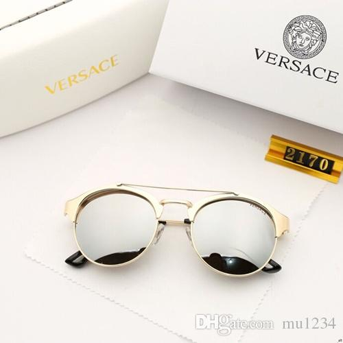 New type of high-definition dazzle lenses for men and women, metallic frame dazzle colorful sunglasses