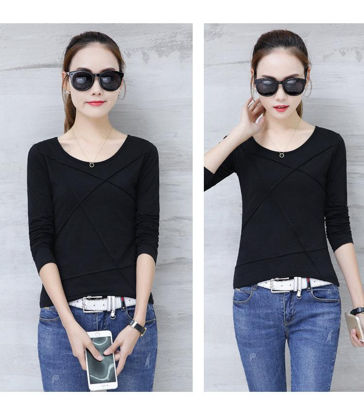 Plus Size Tshirt Women T-shirt Tee Tops Femme Autumn Long Sleeve T-shirts For Women 2019 Casual Cotton Tops Tees Camisetas Mujer (13)