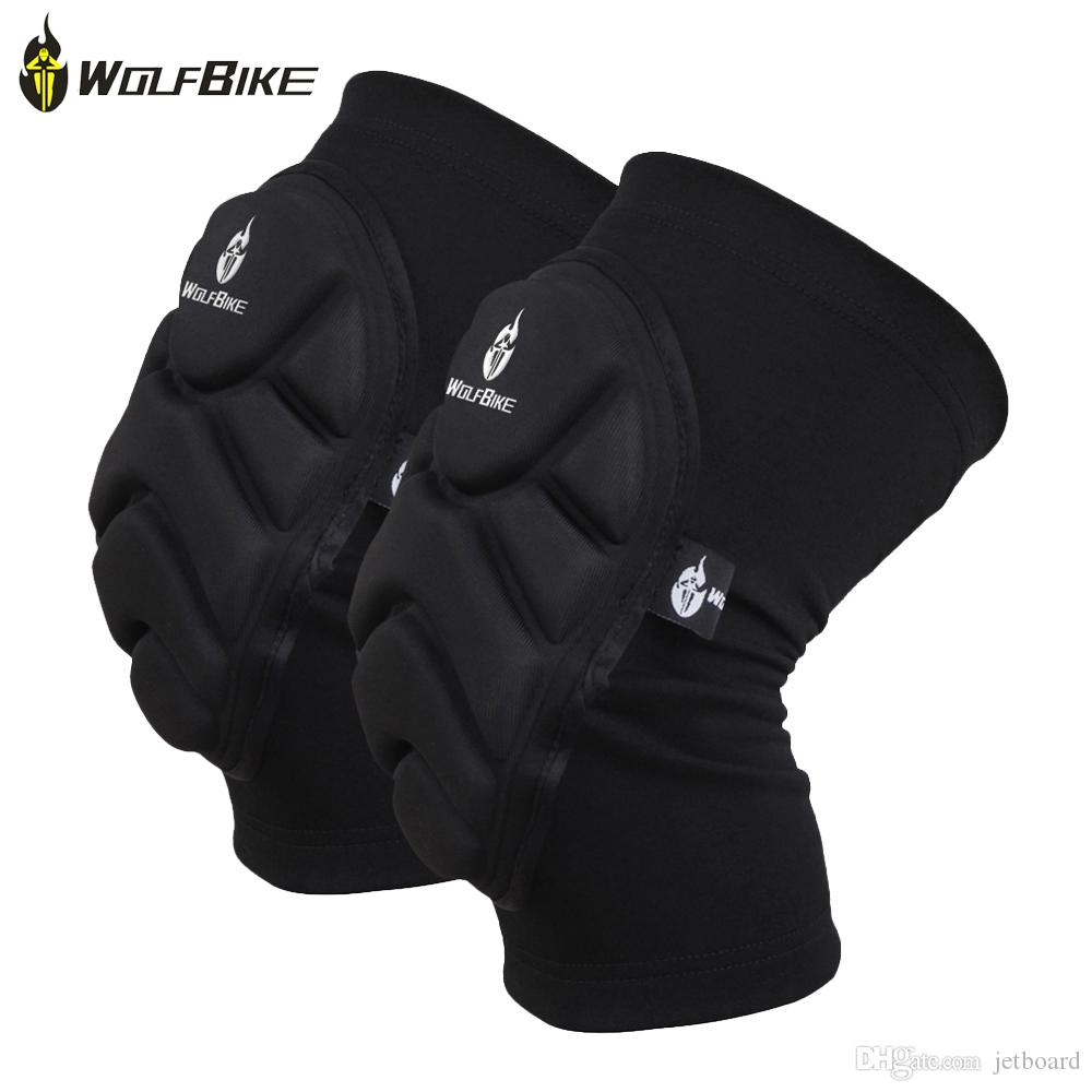 WOLFBIKE BC314 Paired Elastic Knee Pad Breathable Leg Sleeve Kneepad Protector for Football Basketball Skiing With EVA foam