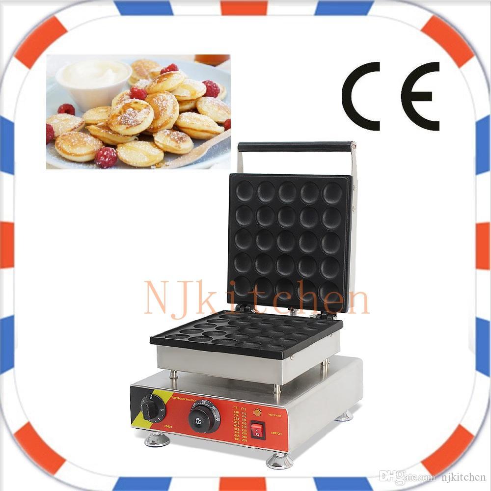 Ücretsiz Kargo yapışmaz 110 V ve 220 V 25 delik Poffertjes ızgara makinesi üreticisi mini gözleme demir bebek gözleme makinesi