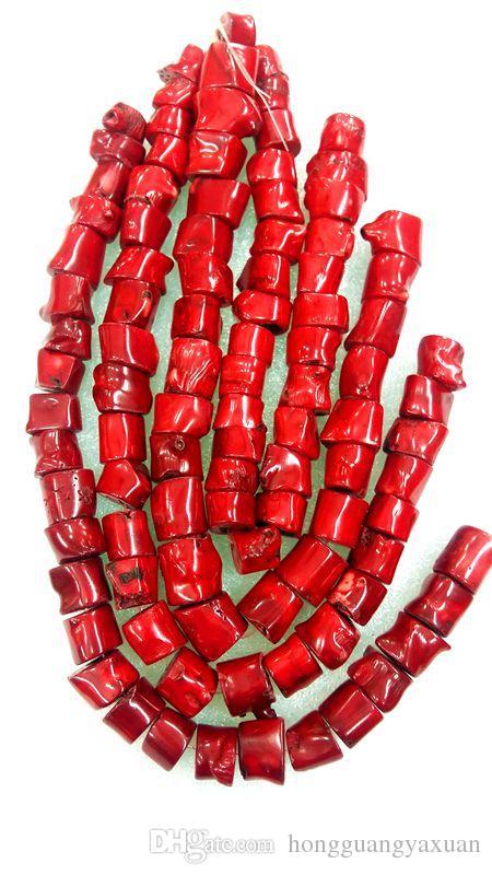 """أحمر المرجان حبة NECKLACE الطبيعي 15 """"20x22mm ضخمة"""