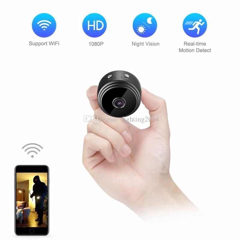 WIFI Mini Camera A9 HD 1080P IR Night Vision Mini camera Home Security Video Camcorder Bike Body DV DVR With Magnetic Clip