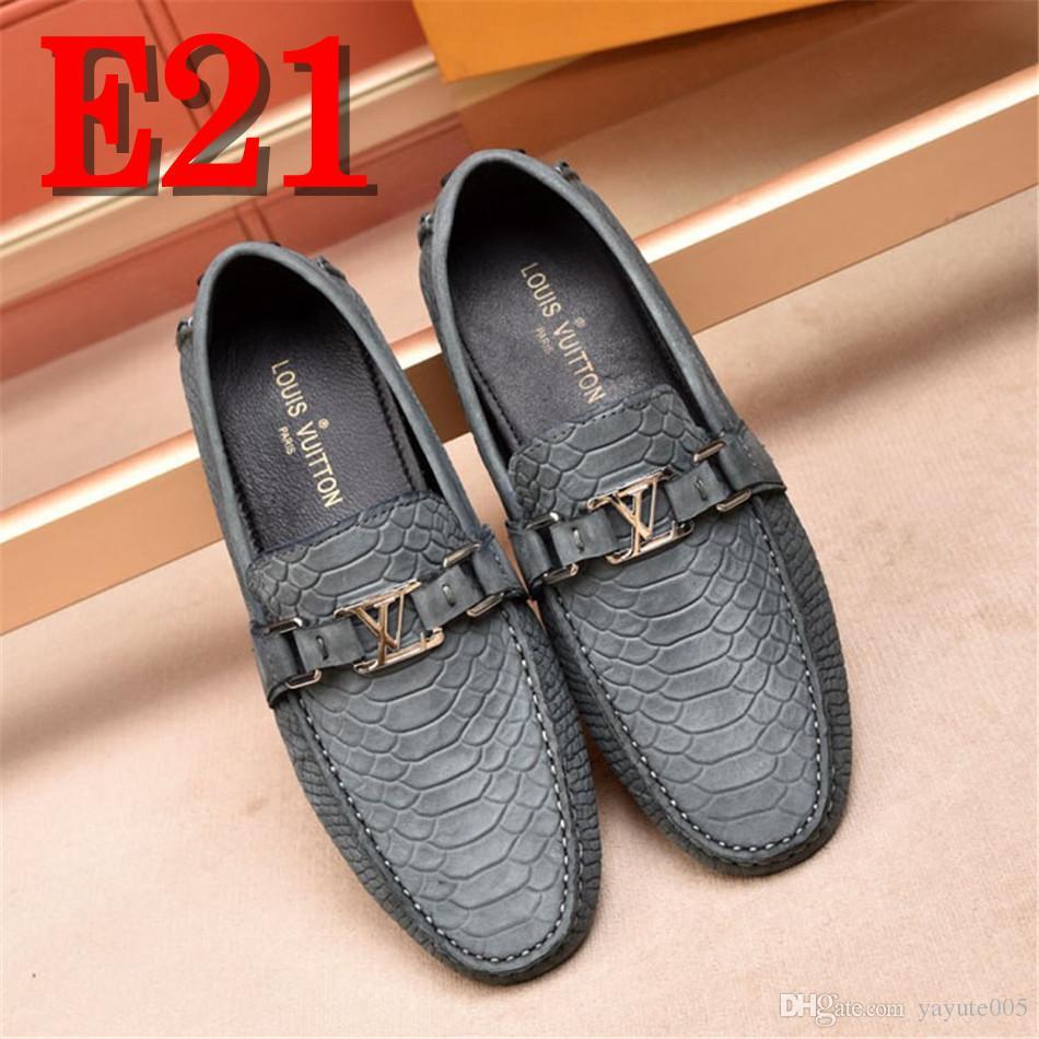 Nuevos Mocasines Hombres Oxford Zapatos planos Top Brand Hombres Mocasines Zapatos de cuero de la boda Italianos Zapatos de conducción ocasionales Zapatos Hombre