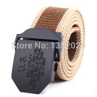 Men's Belts Military Canvas Belt for men weave buckle jeans casual wild belt automatically 2016