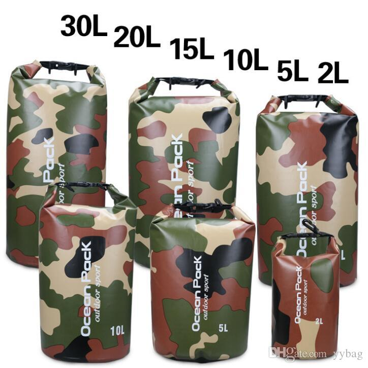 2017 NEW Outdoor drifting bucket beach bucket bag PVC folder network waterproof bag waterproof camouflage bags