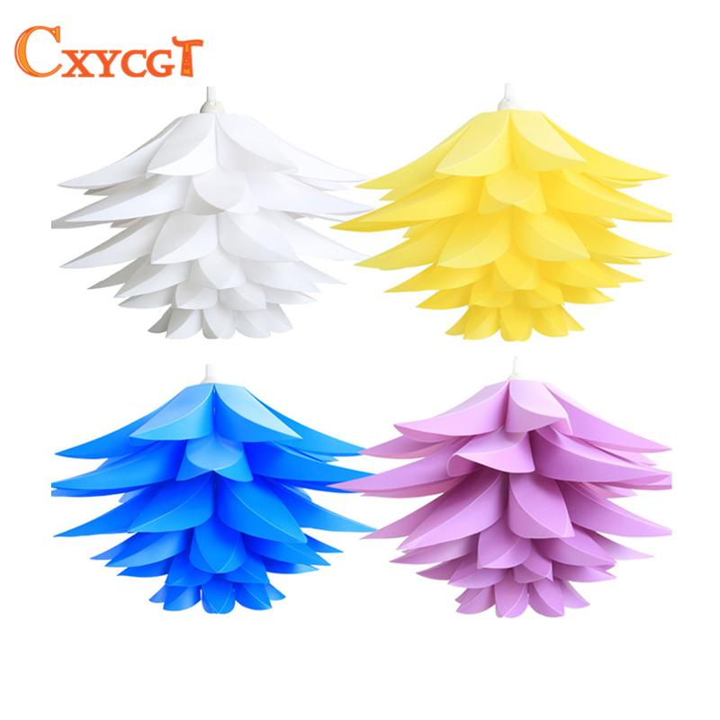 Creative DIY Chandelier PP Pendant Droplight Shade Ceiling Room Decoration Puzzle Lights Modern Lamp For Home Decoration