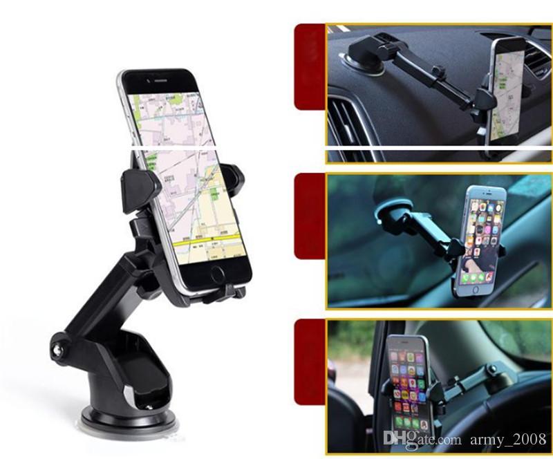 360°автомобильный держатель лобовое стекло кронштейн для мобильного мобильного телефона для iPhone X iphone 8 7 6 6s plus Samsung Galaxy Note 9 7 S9 S8 plus GPS