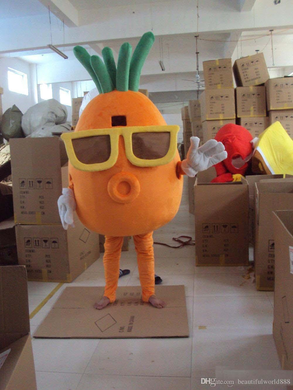 2018 high quality Adult Character Costume Mascot As Fashion Cosply Wear Glasses Of Carrots Carnival Dress Full Body Props Outfit