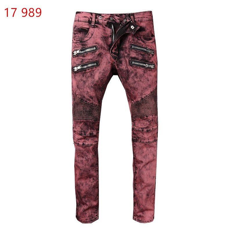 f27155346a59b ... Balmain New Fashion Designer Jeans Men Brand Luxury Long Full Length  Pattern Spring Summer Style England ...