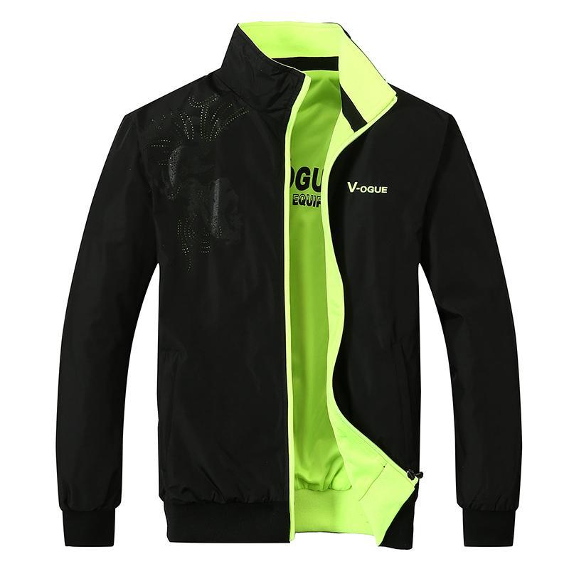 Nueva chaqueta especial para jóvenes. En primavera y otoño, ambos lados usan ropa deportiva para hombres.