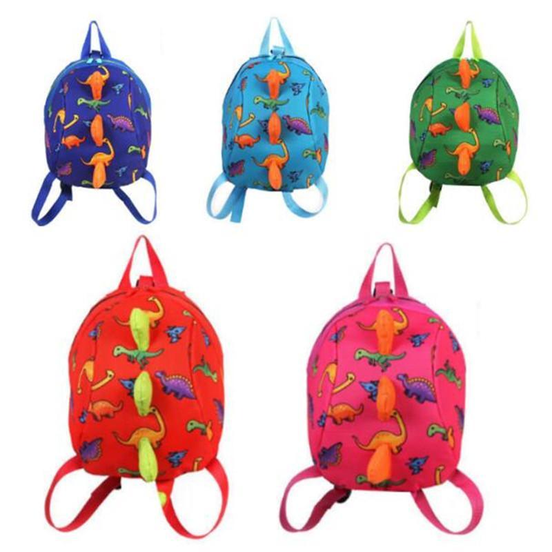 3D 공룡 아이들 배낭 만화 안티 잃어버린 유치원 여자 소년 소년 배낭 학교 가방 귀여운 Multicolors 동물 공룡 간식
