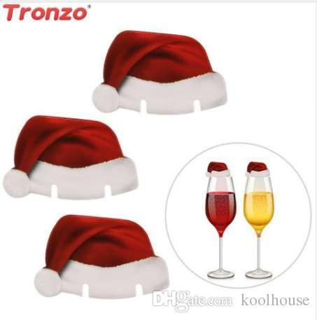 Tronzo Рождественская шляпа карты декор для дома Навидад 50 шт. бумаги Наталь бокал Hat рождественские украшения для дома Новый год